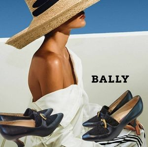 Bally brette black leather buckle heeled mules 6